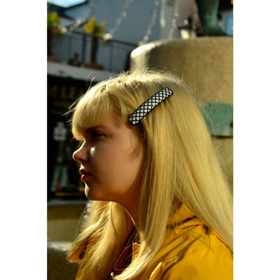 3D Patterned Barrette-Barrettes-Ooh La La!-Tegen Accessories