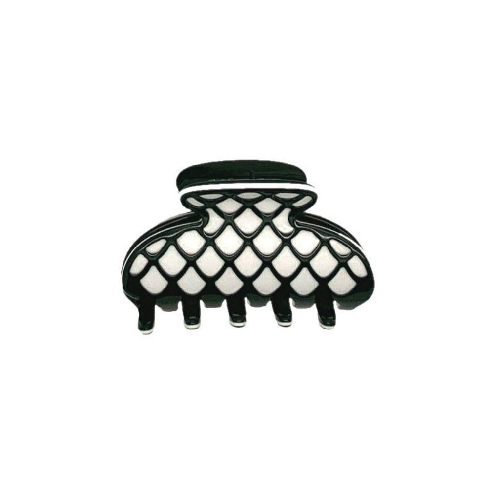 3D Patterned Mini Hair Claw-Hair claws-Ooh La La!-Monochrome Lace-Tegen Accessories