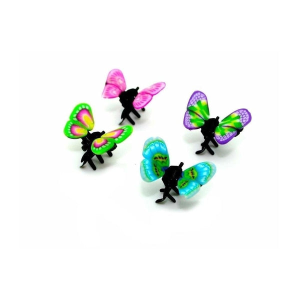 4x Mini Multicoloured Butterfly Hair Claws-Hair claws-Children-Assorted-Tegen Accessories