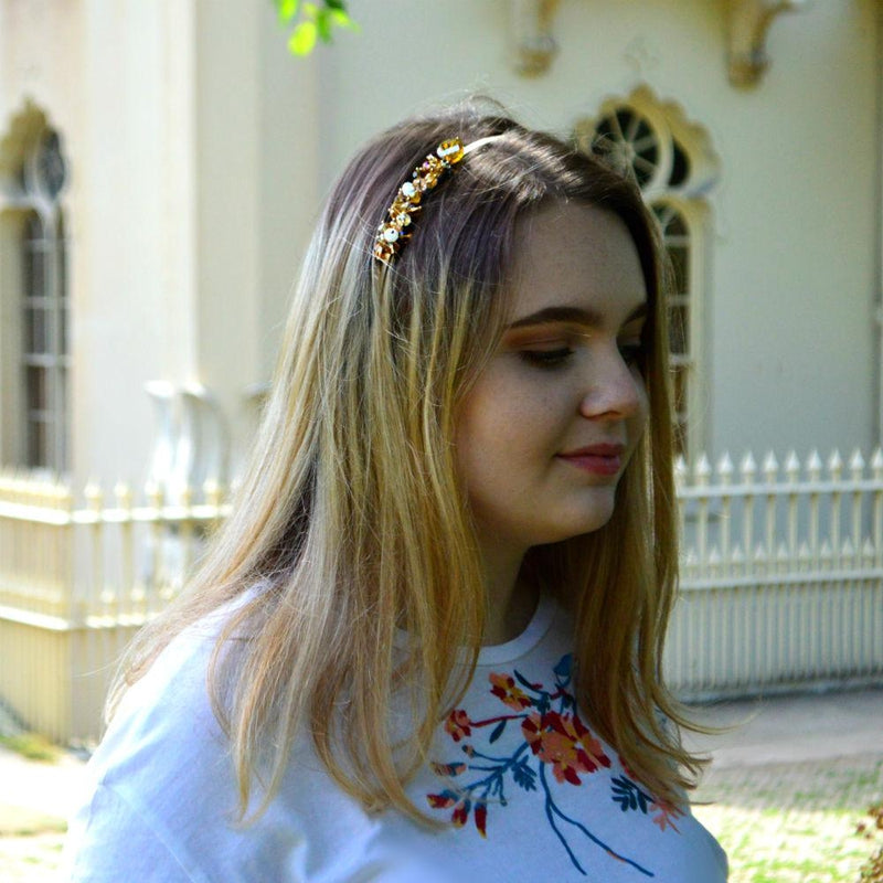 Beaded Cluster Headband-Headbands-Rosie Fox-Gold-Tegen Accessories