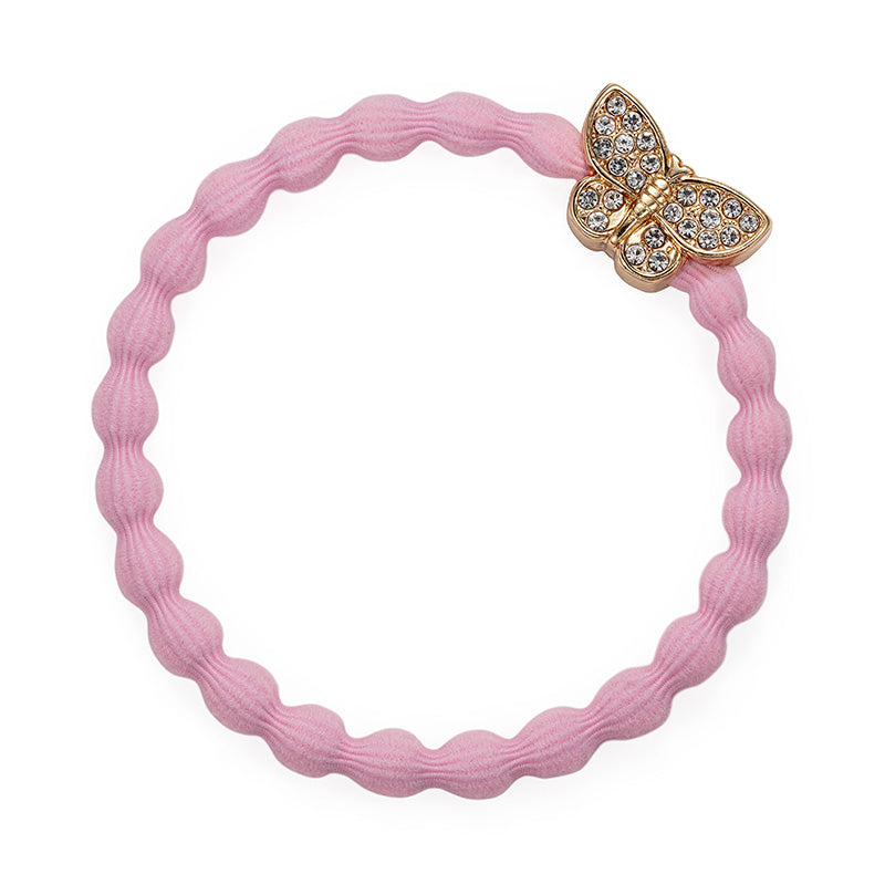 Crystal Butterfly Charm Hairband Pink