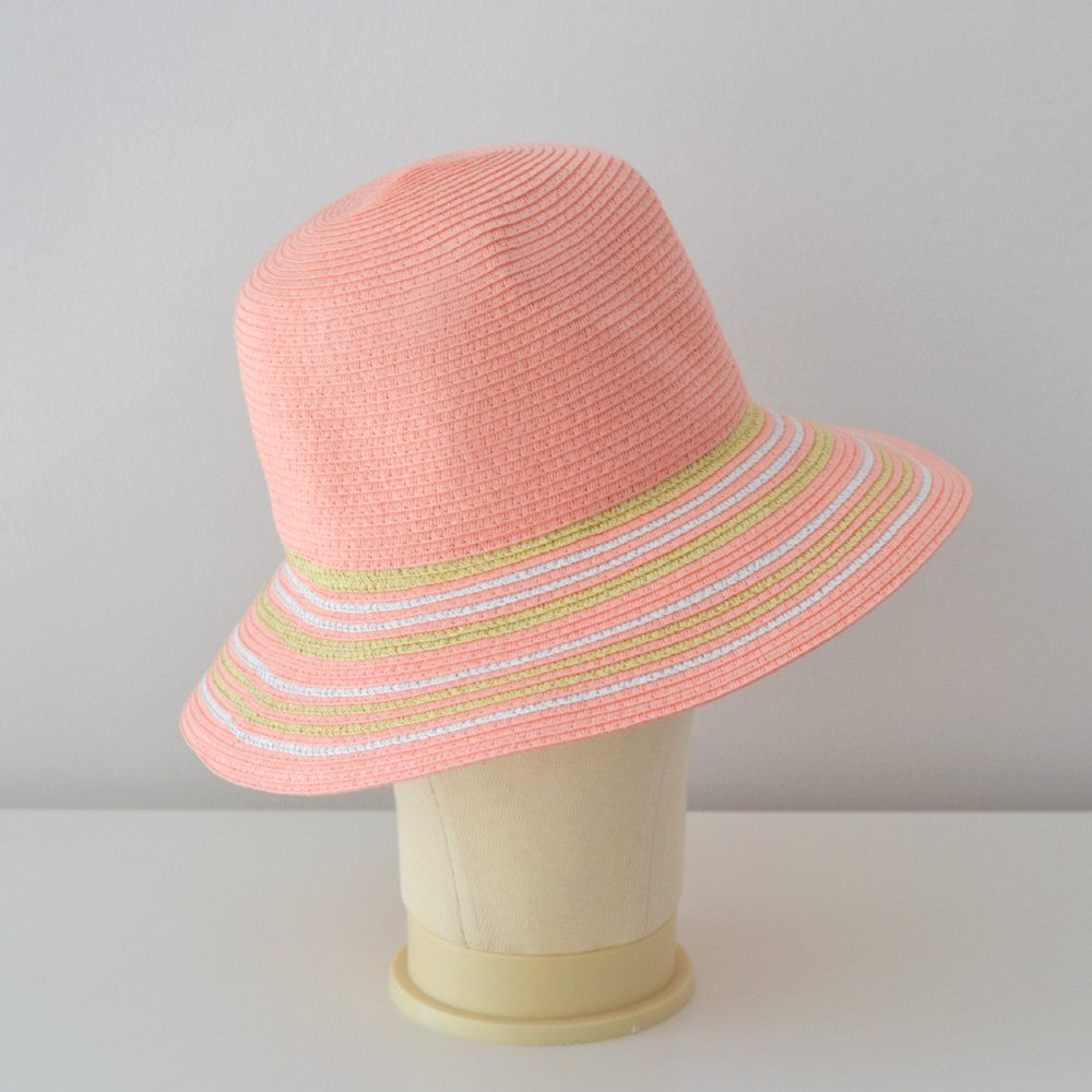 Braided Cloche Sun Hat Suzanne Bettley-Coral Orange