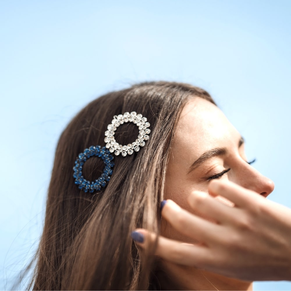 Statement Swarovski Crystal Circle Hair Clip