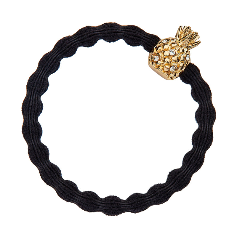 Crystal Pineapple Charm Hairband-Elastics-by Eloise-Yellow-Tegen Accessories Yellow