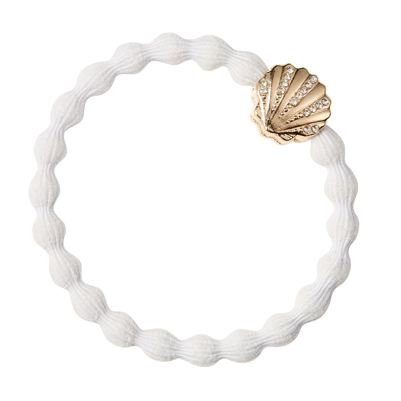 Crystal Seashell Charm Hairband-Elastics-by Eloise-Blonde-Tegen Accessories Blonde
