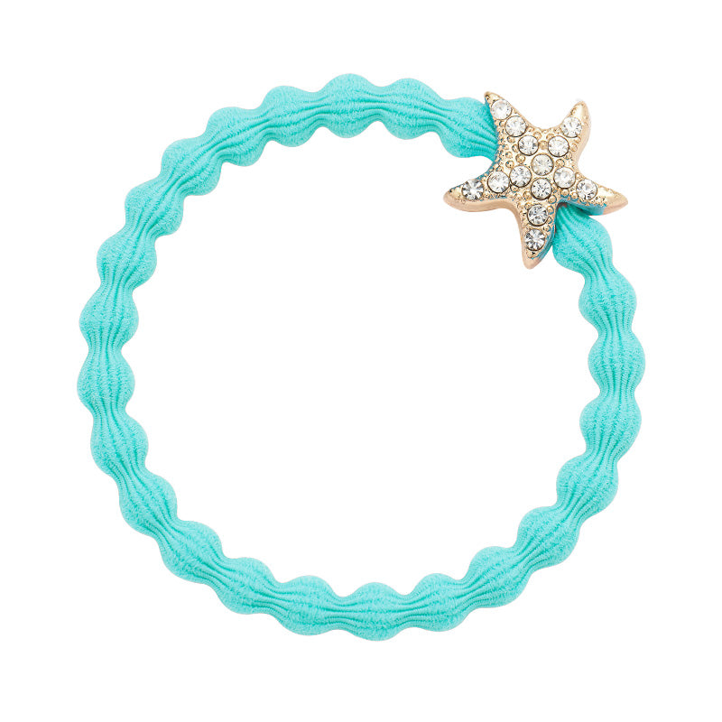 Crystal Starfish Charm Hairband-Elastics-by Eloise-Coral-Tegen Accessories Pink