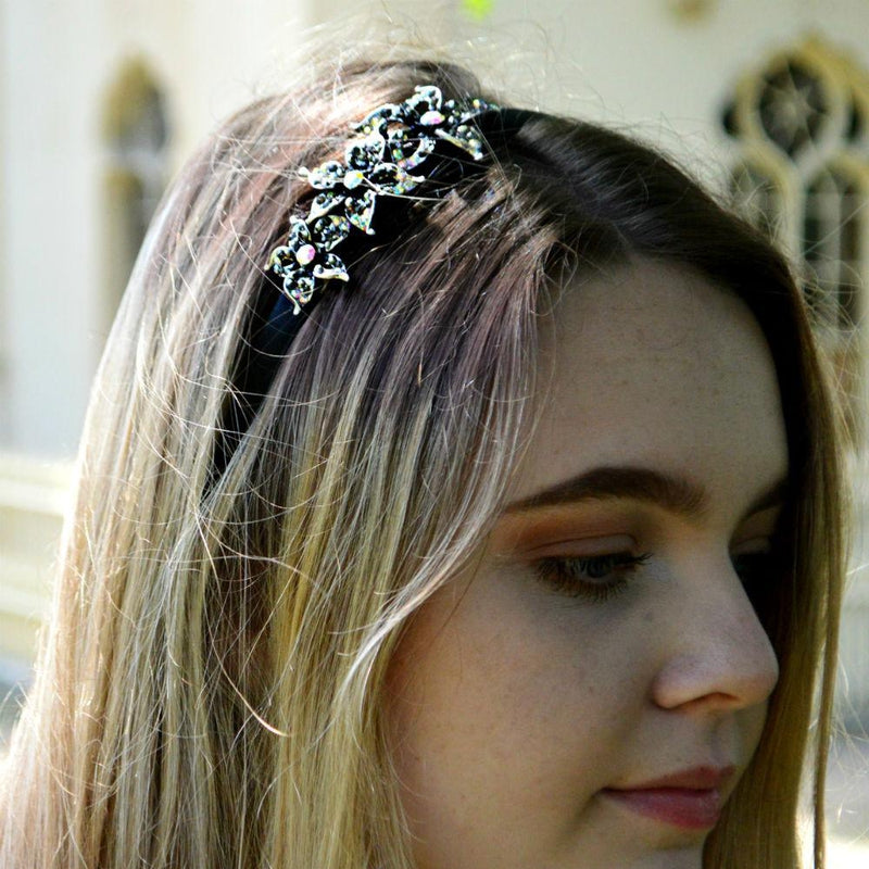 Crystal Flower Headband-Headbands-Rosie Fox-Bronze-Tegen Accessories