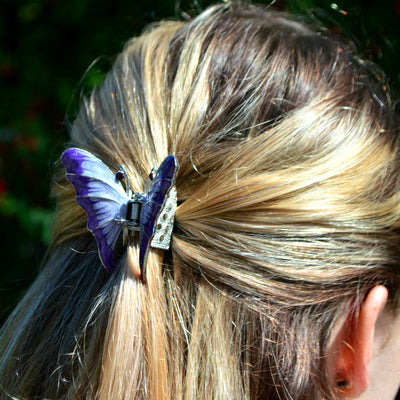 Enamel Butterfly Hair Claw-Discontinued-Purple-Tegen Accessories