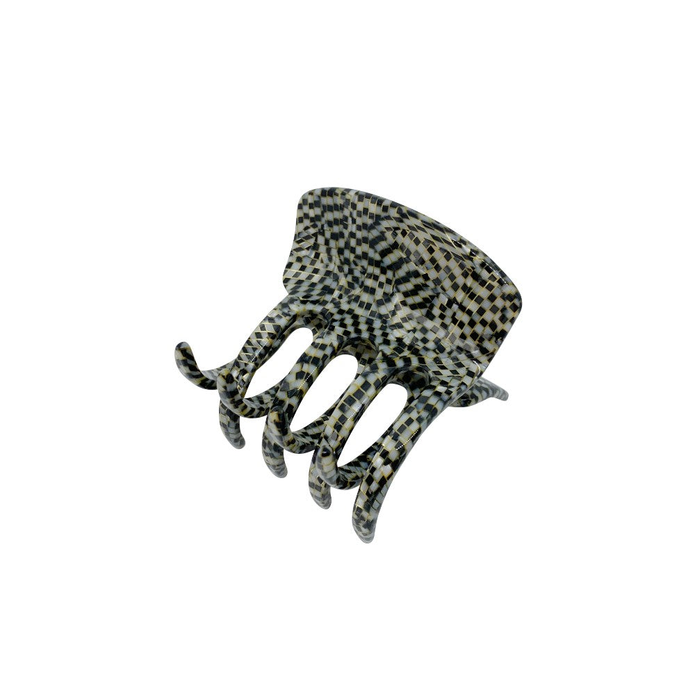 Large Square Hair Claw-Hair claws-Ooh La La!-Onyx-Grey-Tegen Accessories Grey