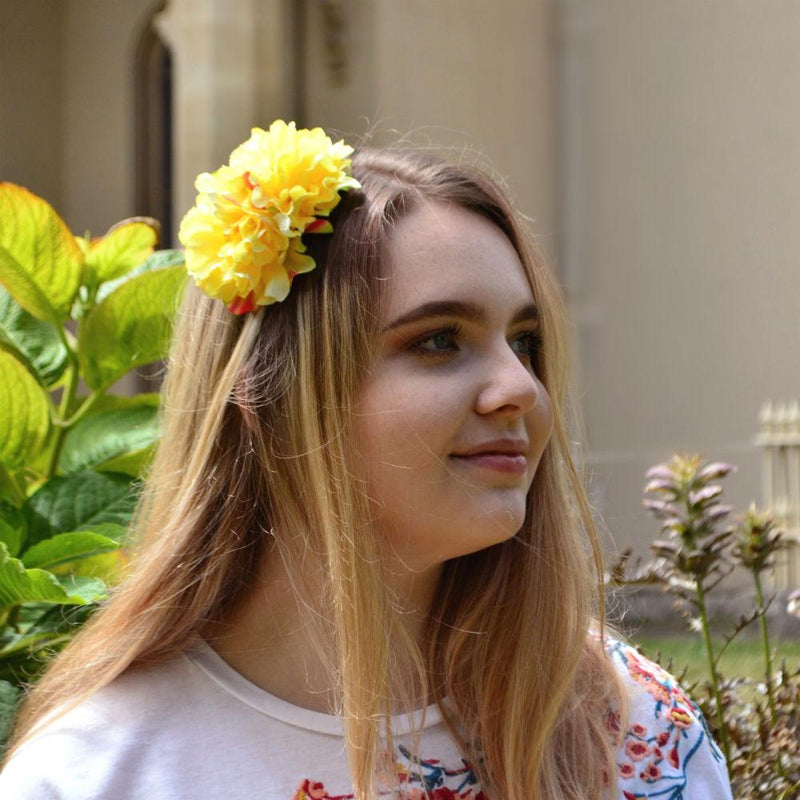 Large Blossom Headband-Hair flowers-Rosie Fox-Yellow-Tegen Accessories Yellow
