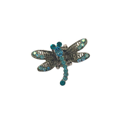 Mini Swarovski Crystal Dragonfly Hairclaw-Hair claws-Swarovski Crystal-Aqua Blue Crystal-Tegen Accessories