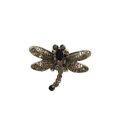 Mini Swarovski Crystal Dragonfly Hairclaw-Hair claws-Swarovski Crystal-Black Crystal-Tegen Accessories