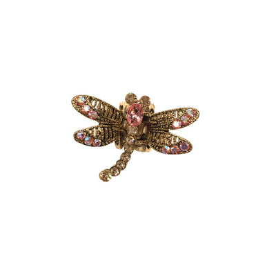 Mini Swarovski Crystal Dragonfly Hairclaw-Hair claws-Swarovski Crystal-Pink Crystal-Tegen Accessories