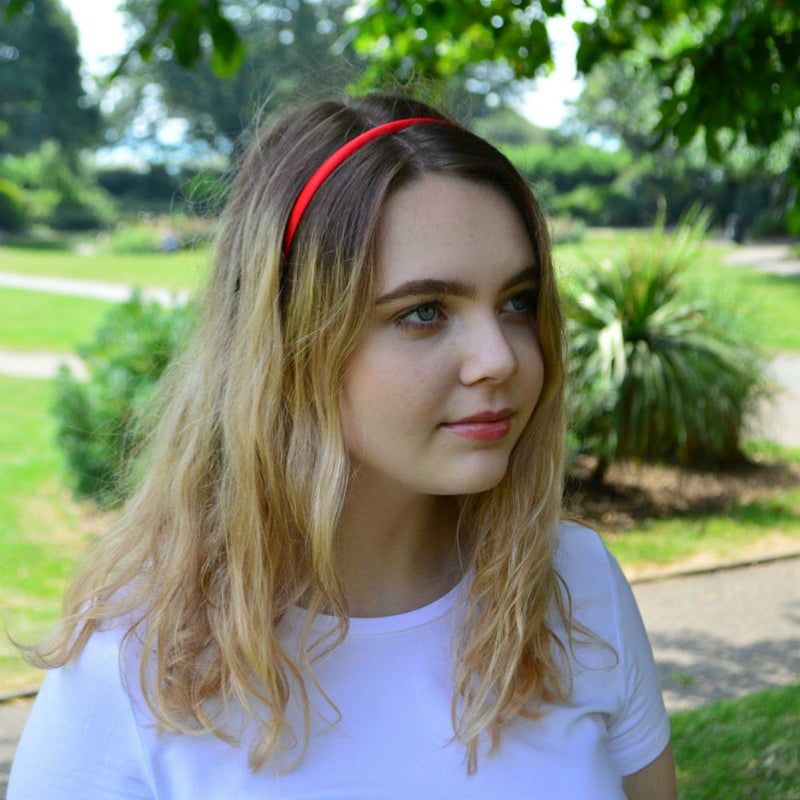 Narrow Satin Headband-Headbands-Children-Navy-Tegen Accessories