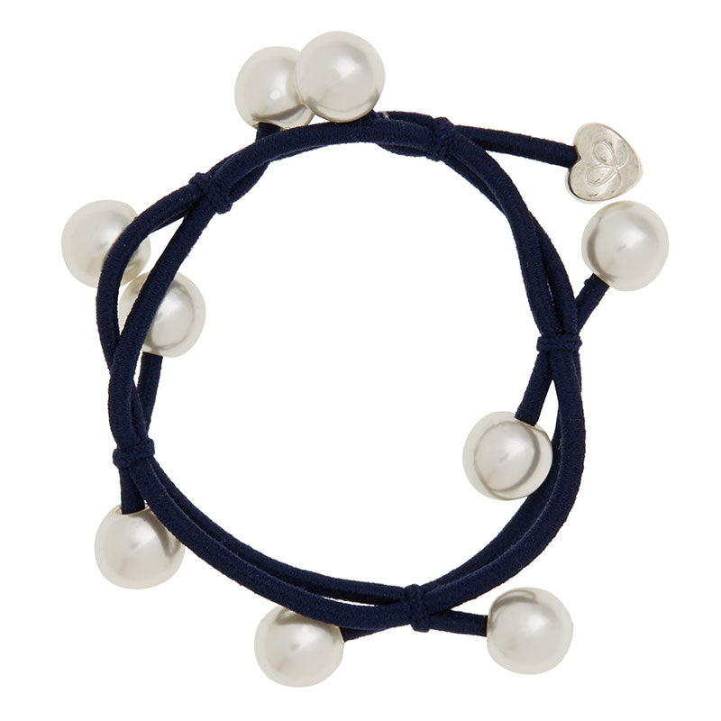 Pearl Cluster Charm Hairband-Elastics-by Eloise-Black-Tegen Accessories Black