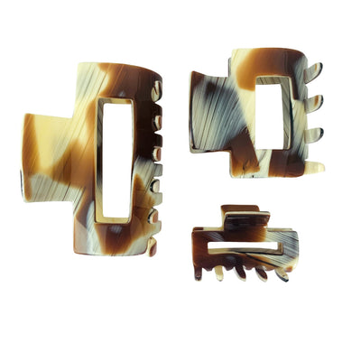 Mini Rectangle Cut Out Hair Claw-Hair claws-Ooh La La!-Tegen Accessories