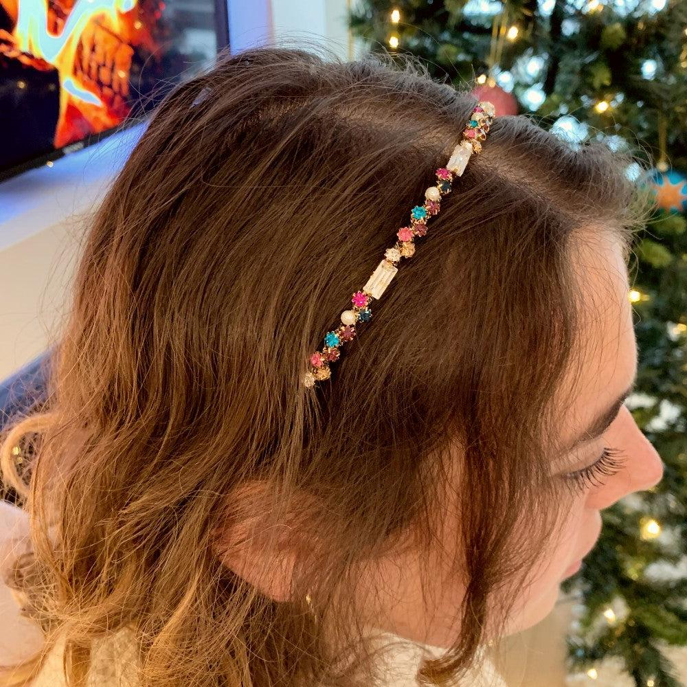 Swarovski Crystal Scatter Headband - Headbands - Swarovski Crystal - Tegen Accessories
