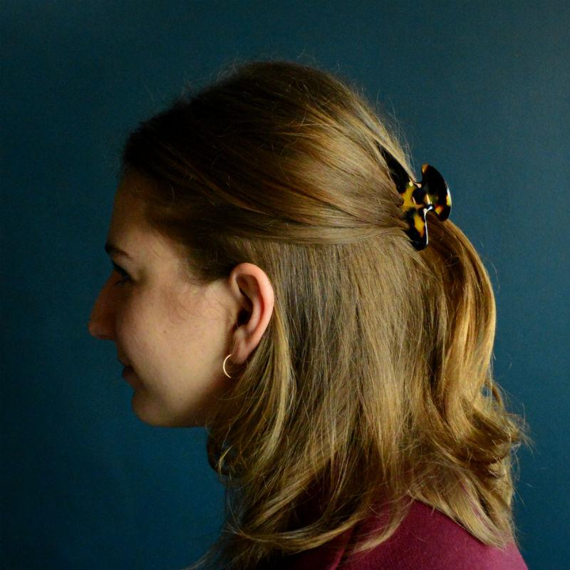 Small Narrow Claw Clip-Hair claws-Ooh La La!-Dark Tokio-Brown-Tegen Accessories Brown