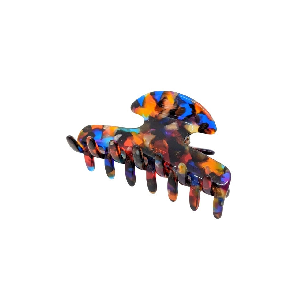 Small Narrow Claw Clip-Hair claws-Ooh La La!-Stained Glass-Tegen Accessories Multicoloured