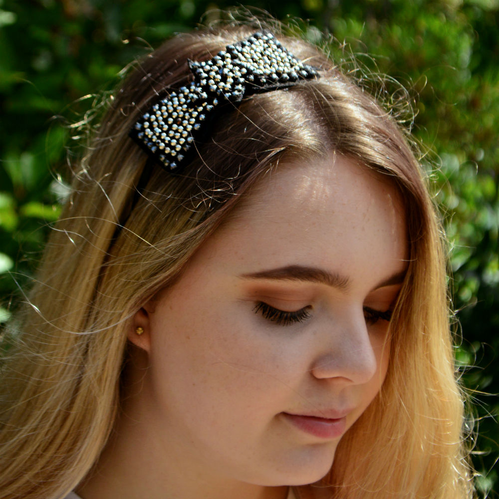 Star Studs Headband-Headbands-Rosie Fox-Silver-Tegen Accessories Grey Silver