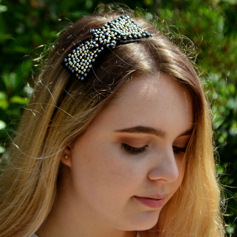 Star Studs Headband-Headbands-Rosie Fox-Silver-Tegen Accessories