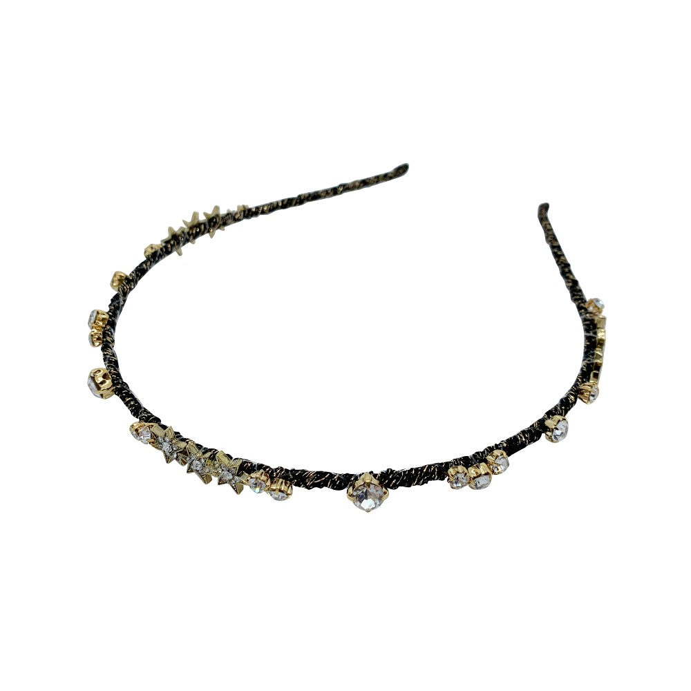 Starlight Swarovski Crystal Headband-Swarovski Crystal-Headbands-Tegen Accessories Black Crystal