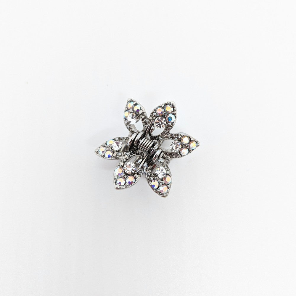 Mini Swarovski Crystal Maple Leaf Hair Claw
