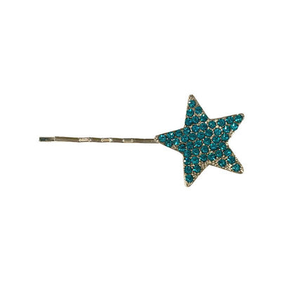 Swarovski Crystal Star Hair Slide-Clips & slides-Swarovski Crystal-Jade Crystal-Silver-Tegen Accessories