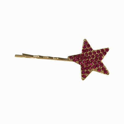 Swarovski Crystal Star Hair Slide-Clips & slides-Swarovski Crystal-Pink Crystal-Gold-Tegen Accessories