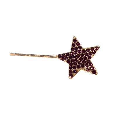 Swarovski Crystal Star Hair Slide-Clips & slides-Swarovski Crystal-Purple Crystal-Gold-Tegen Accessories