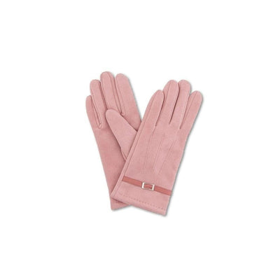 Alicia Faux Suede Gloves-Discontinued-Candy Pink-Tegen Accessories