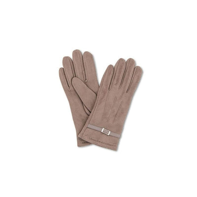 Alicia Faux Suede Gloves-Discontinued-Stone-Tegen Accessories
