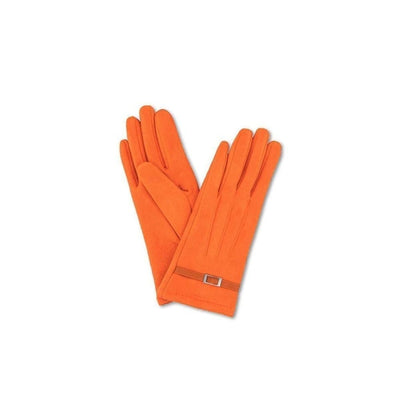 Alicia Faux Suede Gloves-Discontinued-Tangerine-Tegen Accessories