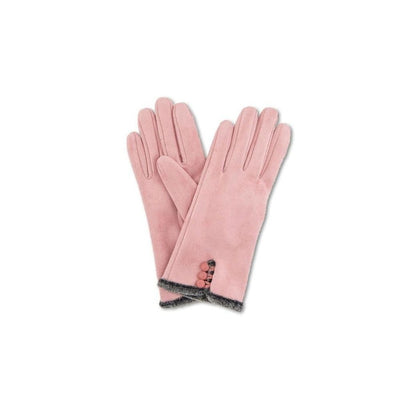 Amanda Faux Suede Gloves-Discontinued-Candy Pink-Tegen Accessories