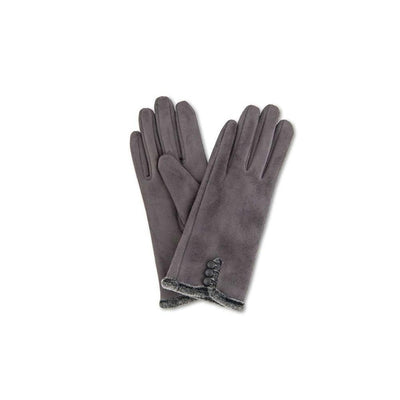 Amanda Faux Suede Gloves-Discontinued-Charcoal-Tegen Accessories