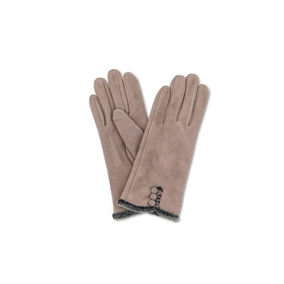 Amanda Faux Suede Gloves-Discontinued-Stone-Tegen Accessories