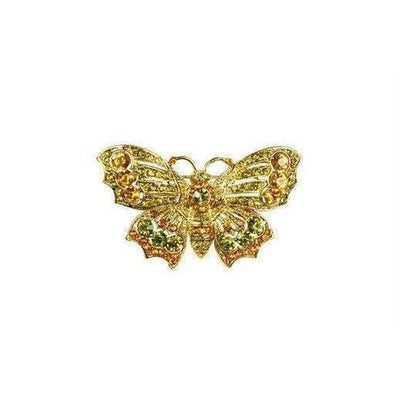 Amber Butterfly Brooch-Discontinued-Gold-Tegen Accessories