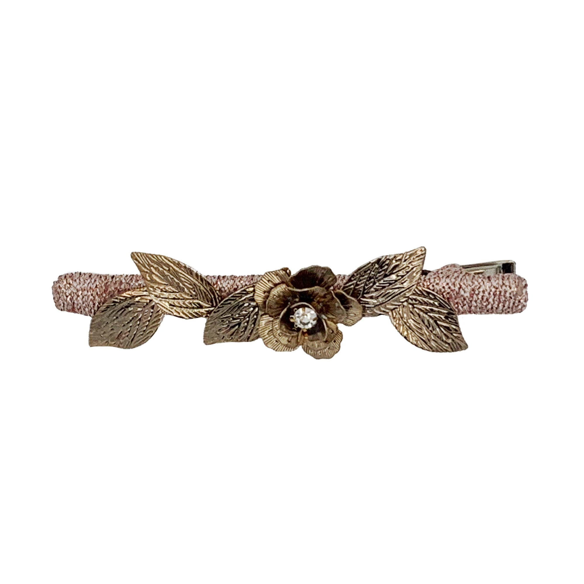 Antique Gold Flower Beak Clip-Beak clips-Tegen Accessories-Tegen Accessories