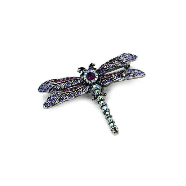 Antique Style Swarovski Crystal Dragonfly Brooch-Brooches-Swarovski Crystal-Green Crystal-Tegen Accessories