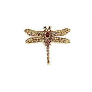 Antique Swarovski Dragonfly Brooch-Brooches-Swarovski Crystal-Purple Crystal-Tegen Accessories