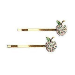 Apple Hair Slides-Clips & slides-Rosie Fox-Pink-Tegen Accessories