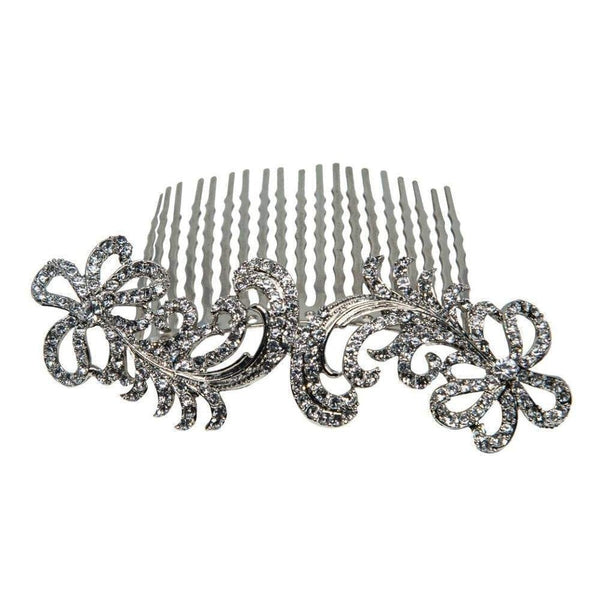 Art Nouveau Swarovski Hair Comb-Hair combs-Swarovski Crystal-Tegen Accessories