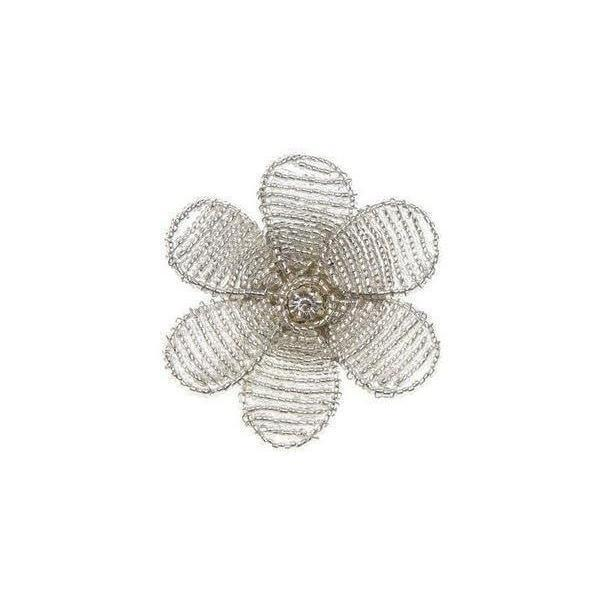 Beaded Blossom Brooch-Brooches-Rosie Fox-Silver-Tegen Accessories