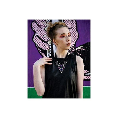 'Belle' Crystal Necklace-Necklaces-Eliza Vale-Purple-Tegen Accessories