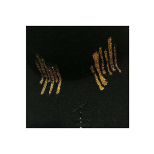 Black & Gold Ray Fedora Hat-Hats-Alpachura Hats-Black-Tegen Accessories