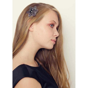 Black Star Hairclip and Brooch-Clips & slides-Rosie Fox-Tegen Accessories