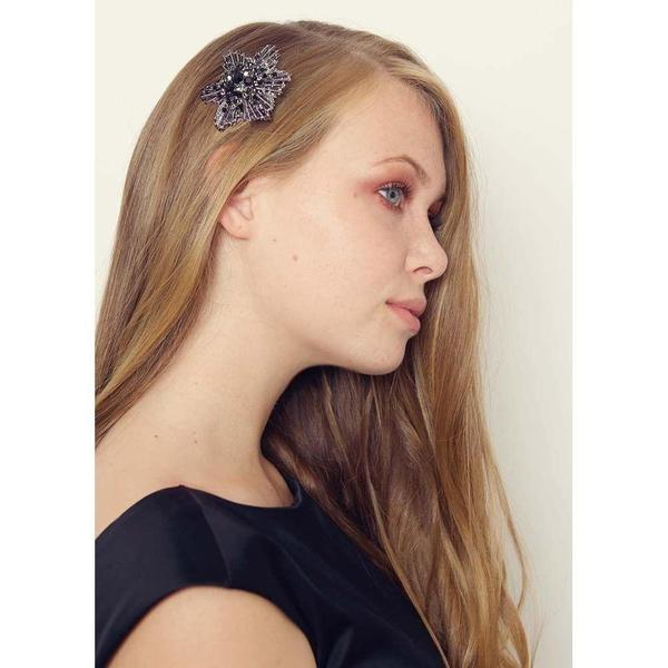 Black Star Hairclip and Brooch