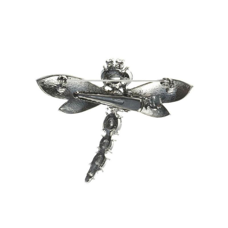 Blue Gem Crystal Dragonfly Hair Clip and Brooch-Brooches-Rosie Fox-Tegen Accessories