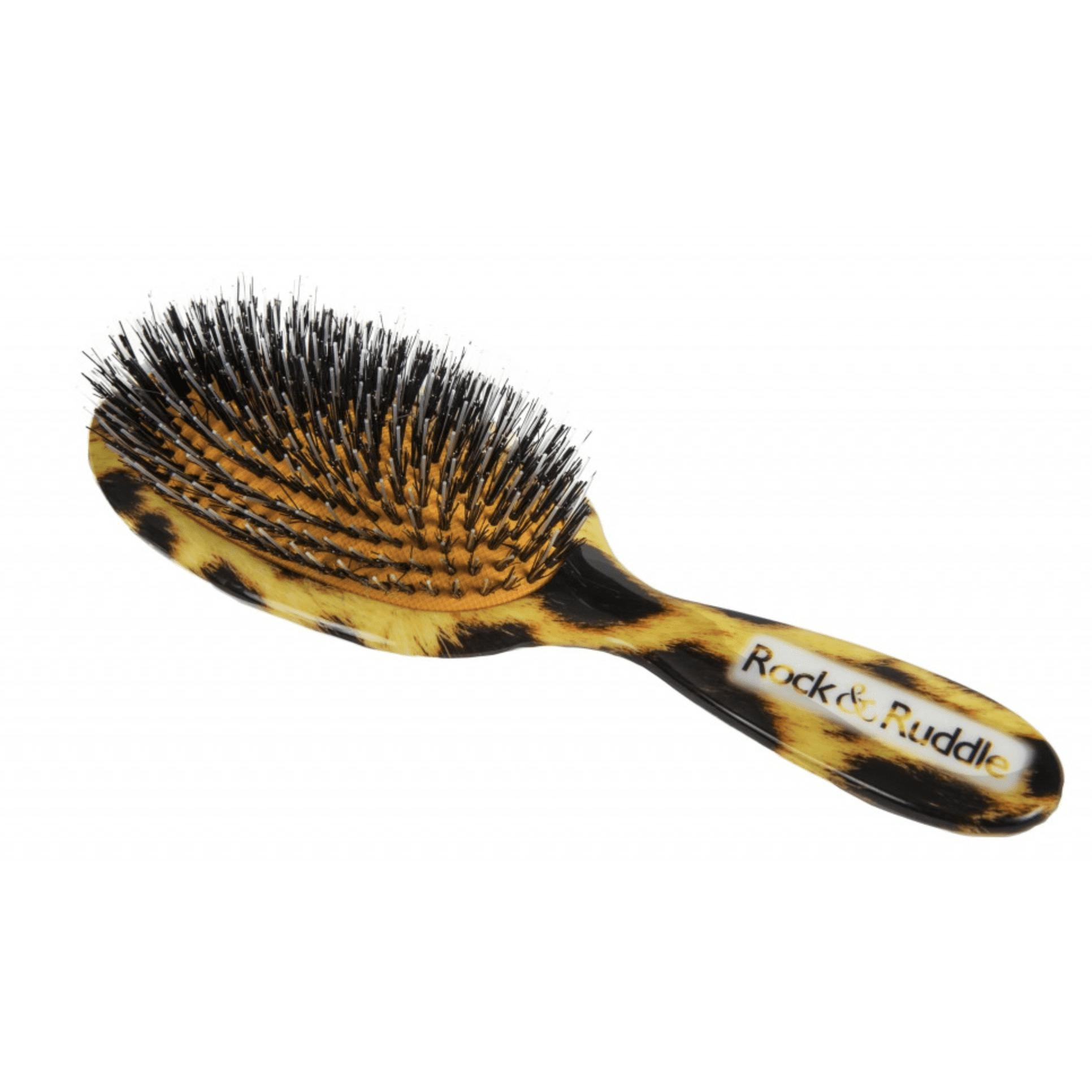 Natural Bristle Hairbrush Leopard Print-Hairbrushes and combs-Rock & Ruddle-Large-Tegen Accessories