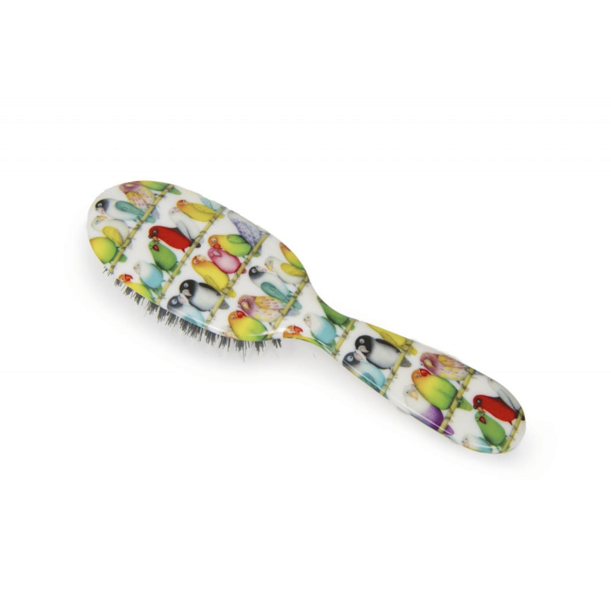 Natural Bristle Hairbrush Lovebirds-Hairbrushes and combs-Rock & Ruddle-Large-Tegen Accessories